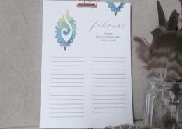 DANKE Geburtstagskalender - Takiwa SoulArt mit Foldbackklammer kupfer